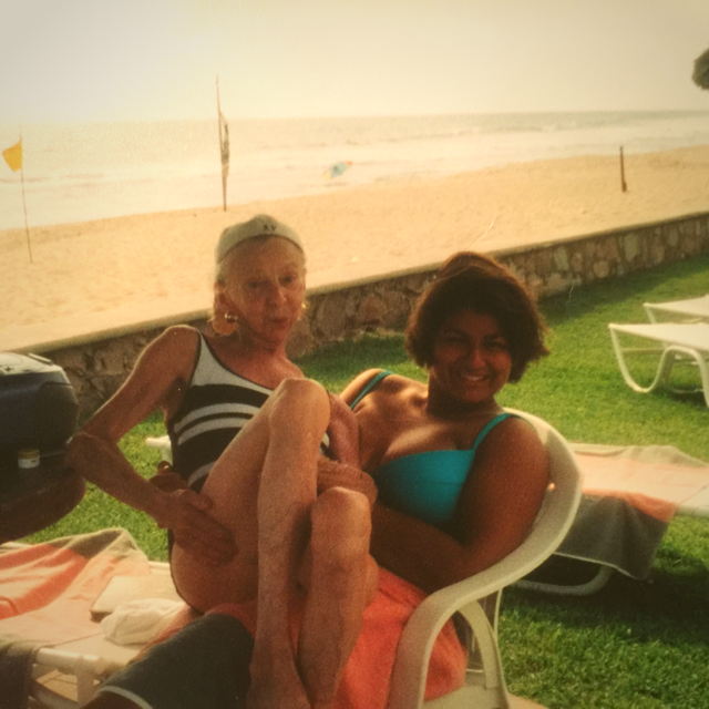 Why I became a nurse. Grandmother and granddaughter enjoying the beach.