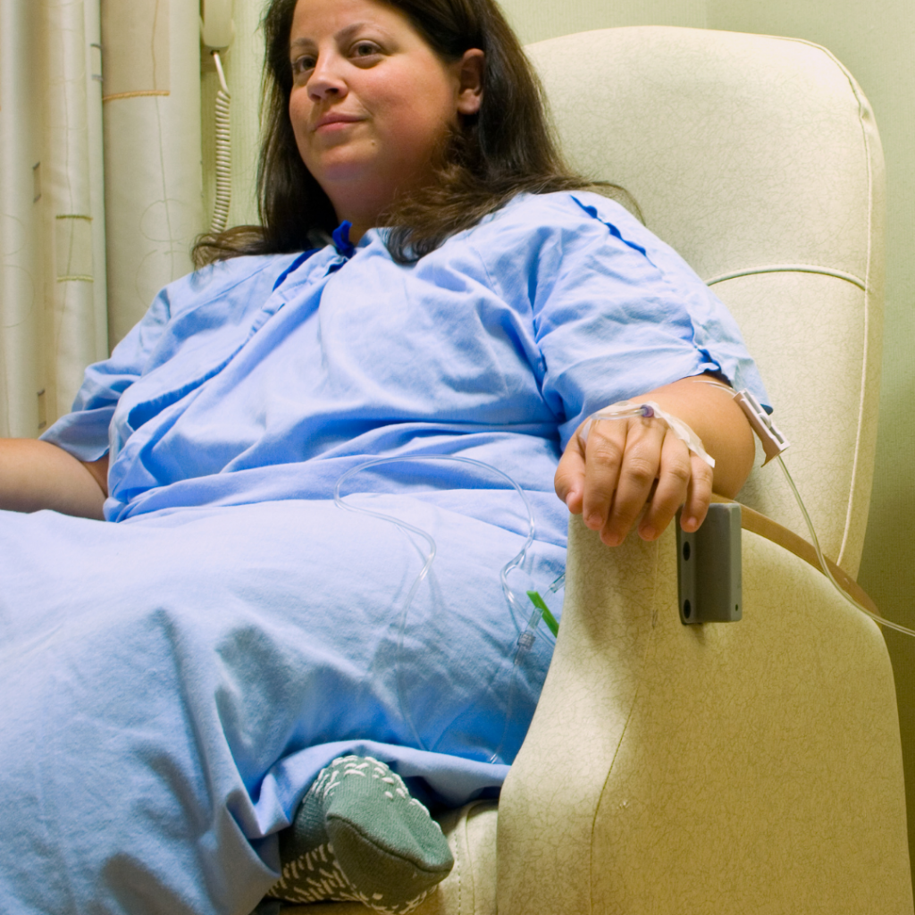 Women waiting for surgery Recovering after plastic surgery